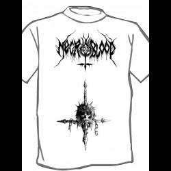 Necroblood - Cross, Shirt (white)