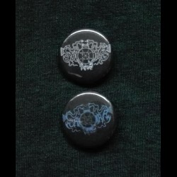 Saqra's Cult - Logo, Button (blue)