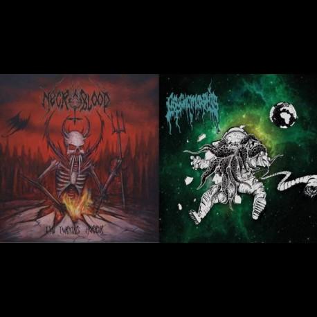 Necroblood / Psychomorphis -The Lurking Horror / Amorphous Chaos, Digi CD
