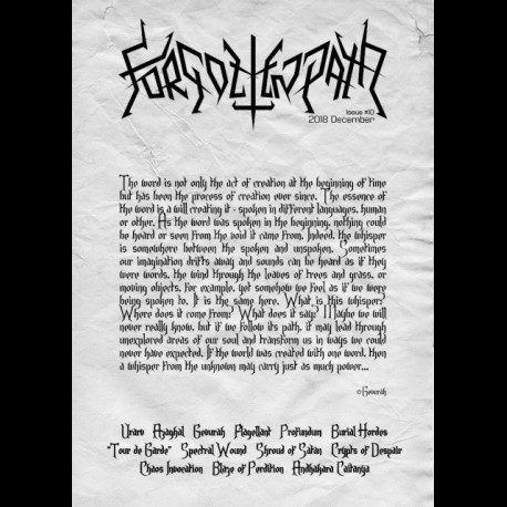 Forgotten Path - Issue # 10, Zine