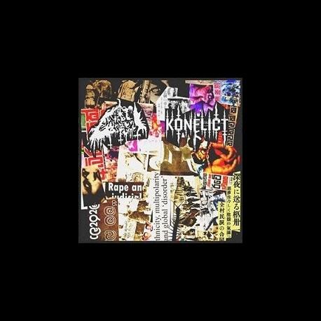 Reek of the Unzen Gas Fumes / Konflict - Split, LP